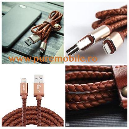 Imagine CABLU DATE DIN PIELE   MICRO USB PENTRU  Samsung S3/S4/S5/S6/S7