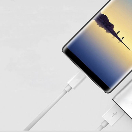 Imagine ORIGINAL SAMSUNG FAST CHARGERS 9V/2A  +CABLU DATE  TYPE-C  GALAXY NOTE 8 /S8/S8+/S9/S9+/NOTE,9-BULK,WHITE