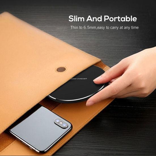Imagine Incarcator Wireless Fast Charging Pad QI 15W,pentru iPhone, Samsung Galaxy, Round Black