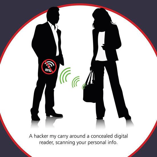 Imagine Card protectie contactless RFID si NFC pentru protejarea cardurilor bancare si pasapoartelor cu cip RFID - Smart Card - pachet cu 3 bucati