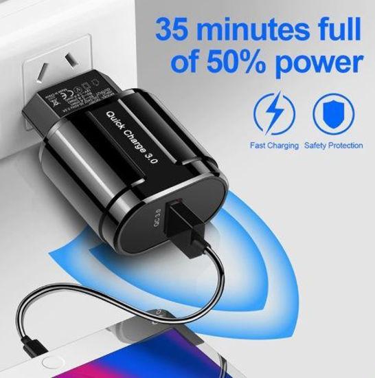 Imagine ADAPTOR  USB FAST CHARGER 3.0  18W