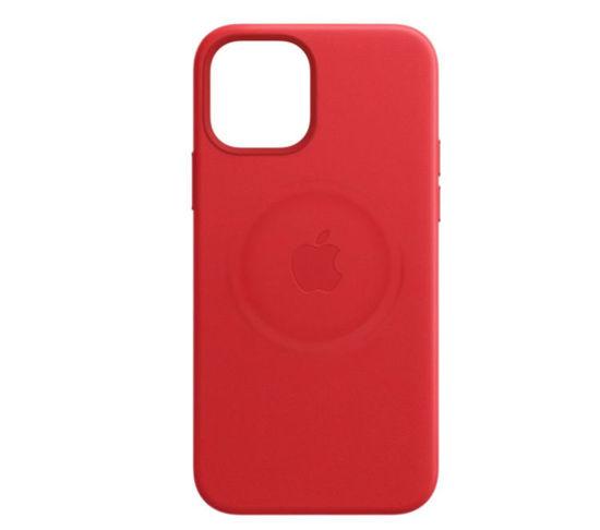 Imagine Husa de protectie Apple Leather Case MagSafe pentru iPhone 12/ 12 Pro,RED