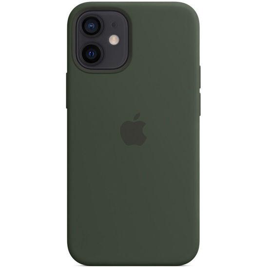 Imagine Husa de protectie Apple Leather Case MagSafe pentru iPhone 12 ProMAX,GREEN