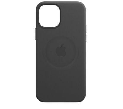 Imagine Husa de protectie Apple Leather Case MagSafe pentru iPhone 12 Mini , Black